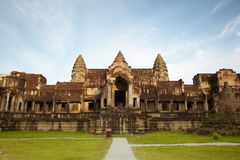 Entry in Angkor Wat Royalty Free Stock Photo