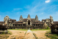 Entry in Angkor Wat in Cambodia Stock Photos