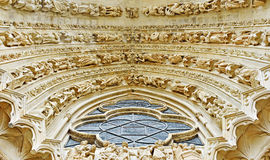 Entry arch of the Cathedral Our Lady of Reims Royalty Free Stock Images