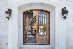 Entry and arch of home Stock Images