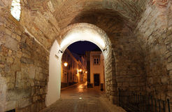 Entry arch to the old town Royalty Free Stock Photos