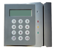 Entry card scanner Stock Images