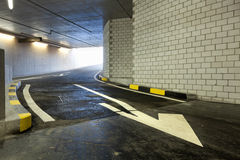 Entry cars, underground parking Royalty Free Stock Image