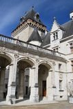 The entry of the Castel of Pau in France Stock Photography