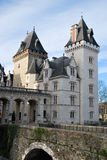 The entry of the Castel of Pau in France stock photos