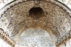 Entry of Church St-Michel in Dijon, France Stock Image