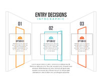 Entry Decision Infographic Stock Images