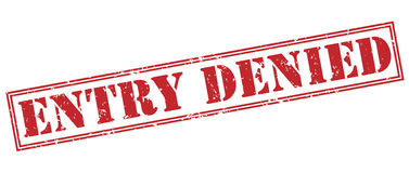 Entry denied red stamp Stock Image