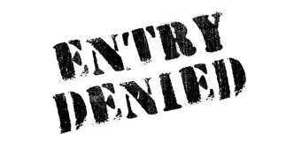 Entry Denied rubber stamp Stock Image
