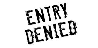 Entry Denied rubber stamp Royalty Free Stock Images