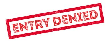 Entry Denied rubber stamp Stock Photos