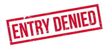 Entry Denied rubber stamp Stock Photo