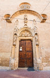 Entry door to church on Carrer San Miquel Stock Images