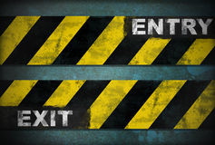 Entry exit sign Royalty Free Stock Photos