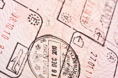 Entry and exit stamps Stock Photos