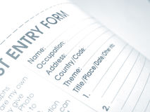 Entry form Royalty Free Stock Photos
