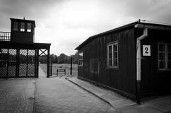 Entry gate in concentration camp Stutthof Stock Photos