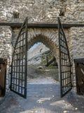 Entry gate of medieval castle Smolen Stock Images