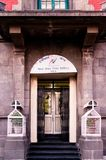 Entry gate for the office of BSNL india. Shimla, India - 25th Apr 2018: Entry gate of a BSNL bharat Sanchar nigam limited office in a british styled building Stock Photo