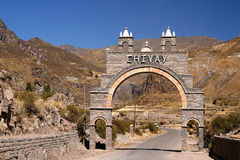 Entry gate to Canyon Colca Royalty Free Stock Photos