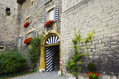 Entry gate to Castle Of Murten Royalty Free Stock Images