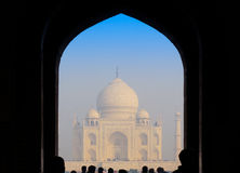 Entry gate to Taj Mahal. People going through the entry gate to enter the Taj Mahal complex Royalty Free Stock Images