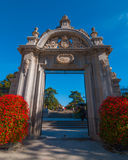 Entry gates to the city of Madrid's Retiro park. Royalty Free Stock Photos