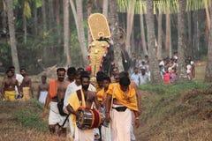 Entry of GOD. Lord Sreeramachandra visiting to his villages. A hindu ceremony at Kerala Royalty Free Stock Image