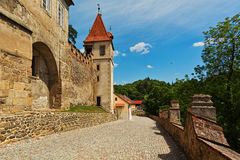 Entry group of Krivoklat castle royalty free stock photo