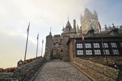 Gate of the historical Cochem castle Stock Photo