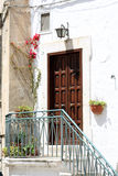 Entry home. With flowers and lantern royalty free stock photo