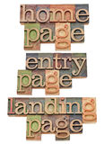 Entry, home and landing page - internet concept Royalty Free Stock Photography