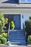 House with marble stairs in front Stock Photo