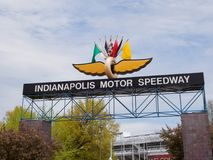 Entry for the Indy 500. The entry for the famous Indy 500 will be very busy over the next few days as the teams prepare for the Indy 500 to be run over Memorial Stock Image