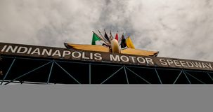 Entry for the Indy 500. The entry for the famous Indy 500 will be very busy over the next few days as the teams prepare for the Indy 500 to be run over Memorial Royalty Free Stock Photo