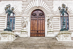 Entry of the Italian Parliament Building in Rome Royalty Free Stock Photography