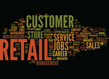 Entry Level Retail Jobs Lead To Lucrative Careers Word Cloud Concept Stock Images