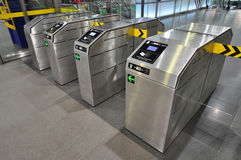 Entry machines to underground Stock Images