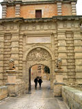 Entry in Mdina in Malta. Entry in medieval city in Malta Mdina, central gates Royalty Free Stock Images