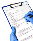 Entry in the medical record Royalty Free Stock Image