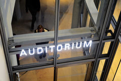 Entry of a modern auditorium Royalty Free Stock Photo