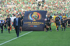 Entry of the national soccer teams during Copa America Centenari Royalty Free Stock Photography