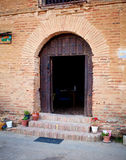 Entry of pilgrims' hospice. Way of st. James Stock Photography