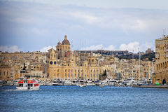 Entry into port of Valletta from the sea Stock Images