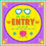Entry Poster stock illustration