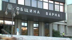 Entry in Regional administration of Varna in Bulgaria stock video footage