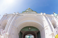 The entry of the Resurrection New Jerusalem Monastery in Russia Stock Photo