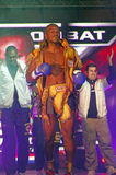 Entry into the ring. Wendell Roche (Holland) at at Superkombat Final Elimination, october 15, Piatra Neamt Stock Photo