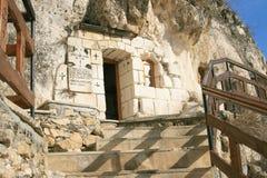 Entry at rock monastery Royalty Free Stock Photo