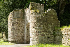 Entry into scone castle Royalty Free Stock Photo